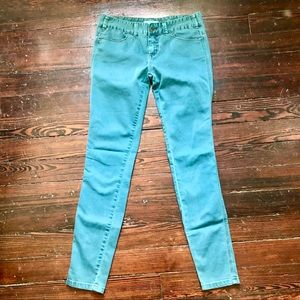 Free People | Green Skinny Jeans | 28